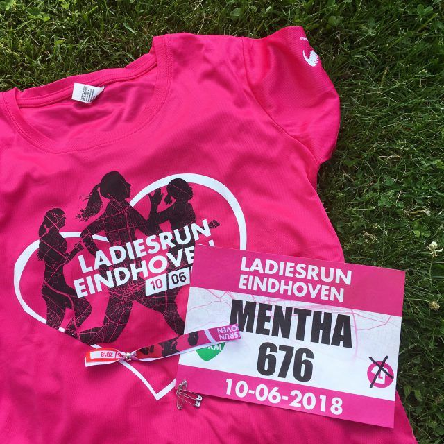 Ladies Run 2018 t-shirt and bib