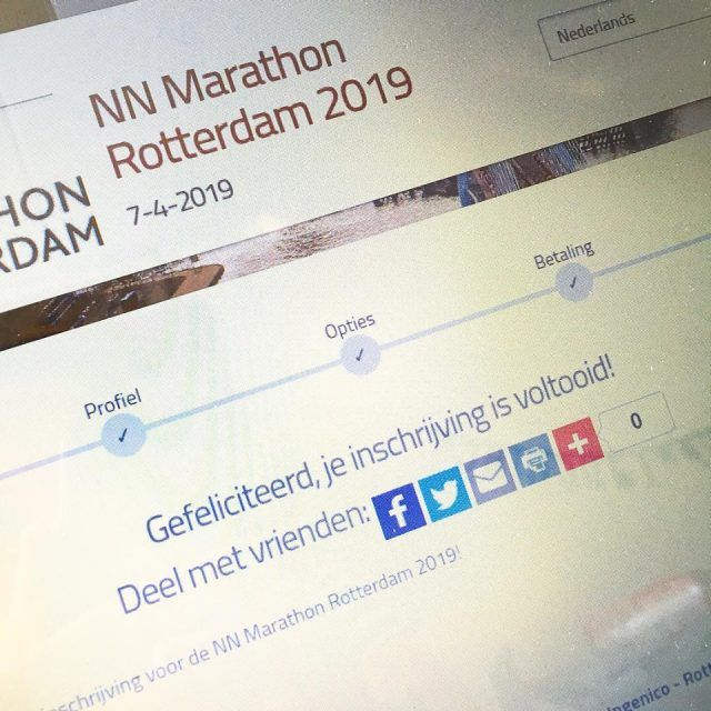 Signed up for the marathon